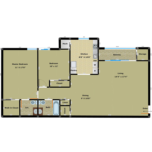 Apartments in henrico va cabin creek has 1 2 3 br for 1 bedroom 1 5 bath house plans